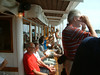 Passengers on upper deck of SS Norrskar in the Stockholm Archipelago, 28 07 2006