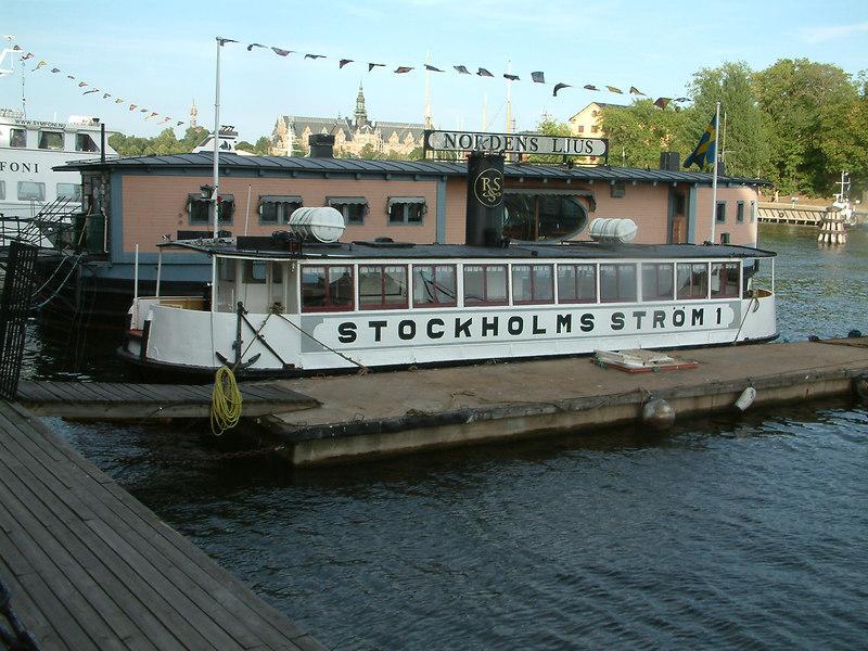 MV Stockholms Strom 1 at Blasieholmen, 27 07 2006