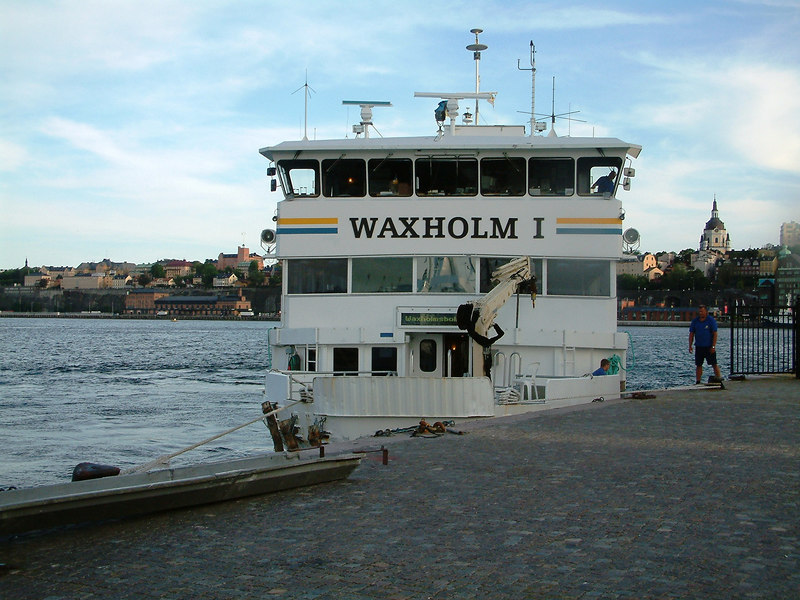 MV Waxholm I tied up for the night at Skeppsbron, Stockholm, 27 07 2006