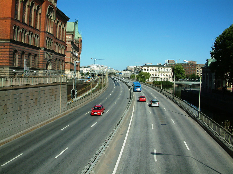 Approach to Centralbron (Central Bridge) from Riddarholmen / Gamla Stan, Stockholm, 30 07 2006