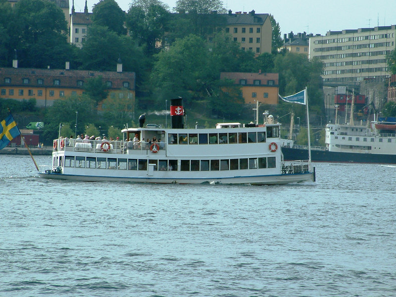 SS Drottingholm leaving Klara Malarstrand, Stockholm, for the Royal Palace at Drottingholm, 28 07 2006