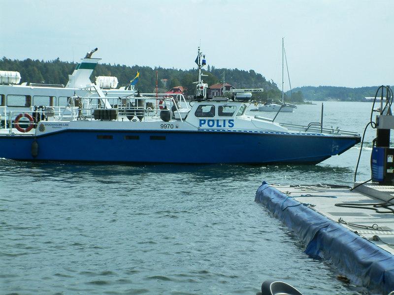 Police boat at Vaxholm, Sweden