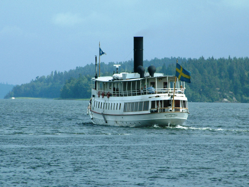 SS Mariefred leaving Mariefred for Taxinge Nasby, 29 07 2006