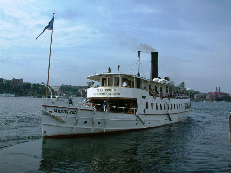 SS Mariefred leaving Klara Malarstrand, Stockholm, 28 07 2006