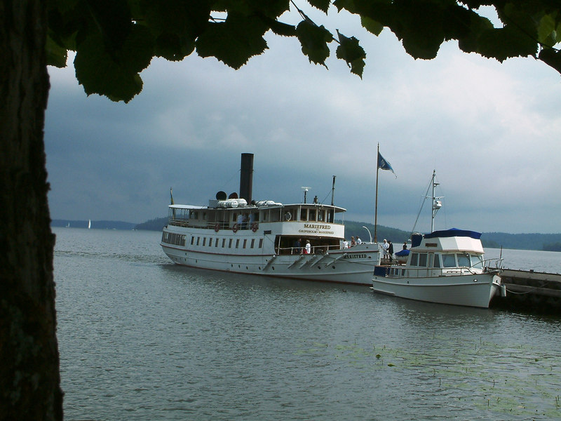 SS Mariefred at Mariefred on Lake Malaren, Sweden, 29 07 2006
