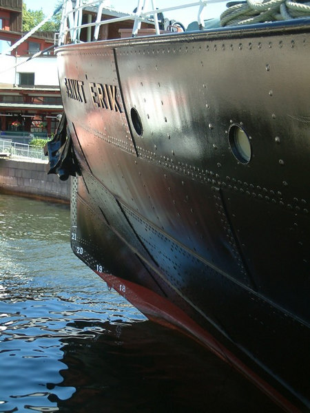 Icebreaker SS Sankt Erik, ice breaking bow form, 30 07 2006.