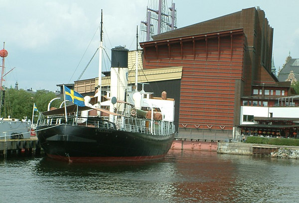Icebreaker SS Sankt Erik berthed outside the Vasa Museum, Stockholm, 30 07 2006.