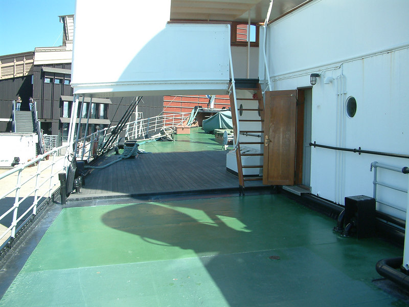 Icebreaker SS Sankt Erik, main deck looking forward from amidships, 30 07 2006.