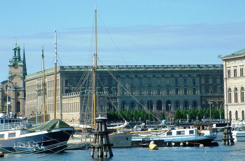 Royal Palace and Storkyrkan from Nybroviken, Stockholm, 30 07 2006