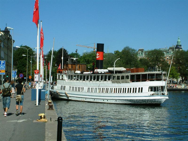 MV Gustafsberg VII at Nybroviken, Stockholm, 30 07 2006