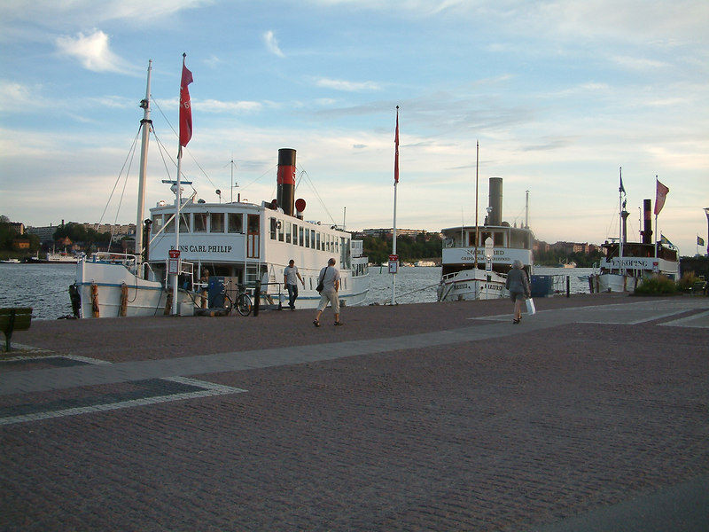 MV Prins Carl Philip, SS Mariefred and MV Enkoping at Klara Malarstrand, Stockholm, 27 07 2006