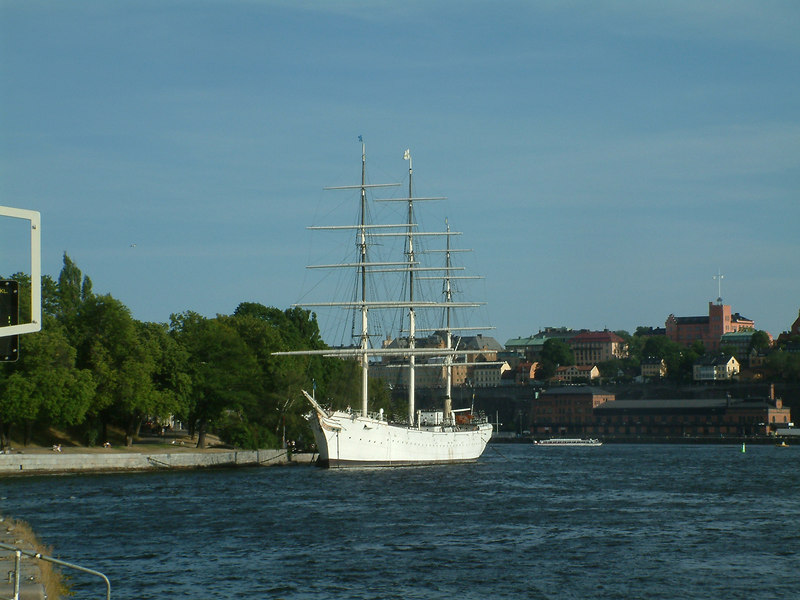 Sail and Steam ship Chapman, youth hostel ship at Skeppsholmen, Stockholm, 27 07 2006