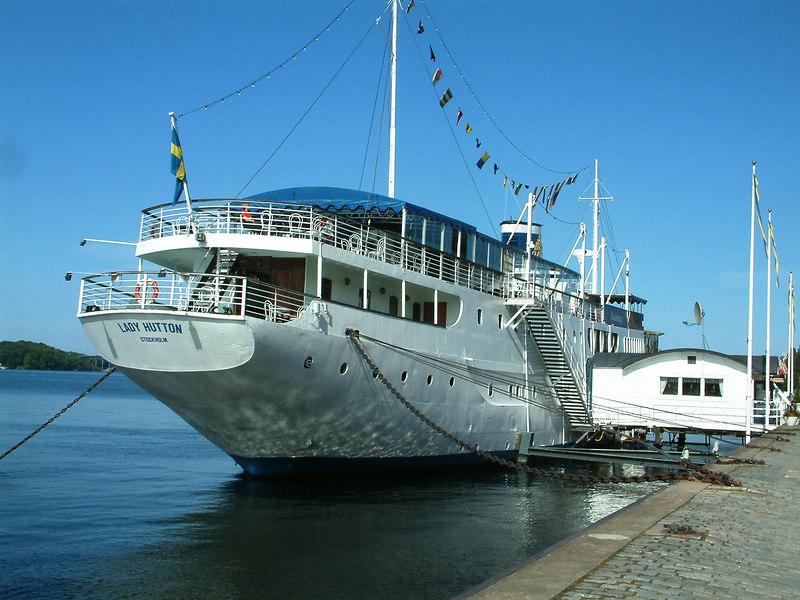 MV Malardrottningen, hotel ship at Riddarhamnen, Stockholm, 27 07 2006. This vessel was the former luxury yacht Vanadis once owned by Barbara Hutton.