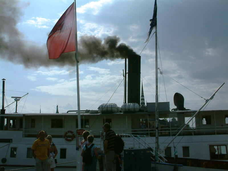 Coal burning SS Mariefred at Klara Malarstrand, Stockholm, 28 07 2006