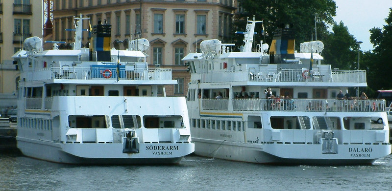 MV Soderarm and MV Dalaro at Strömkajen in Stockholm 29 07 2006
