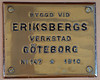 Shipbuilders plate, SS Norrskar