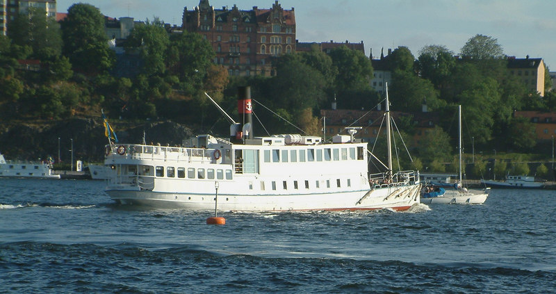 MV Prins Carl Philip leaving Klara Malarstrand, Stockholm, 30 07 2006