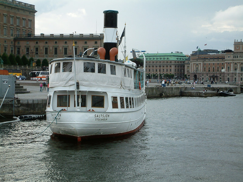 SS Saltsjon at Skeppsbrokajen, Stockholm 28 07 2006