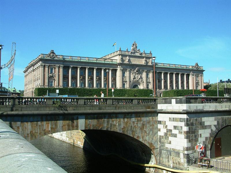 Riksdagen, the Swedish Parliament, Holgeandsholmen, Stockholm, 30 07 2006