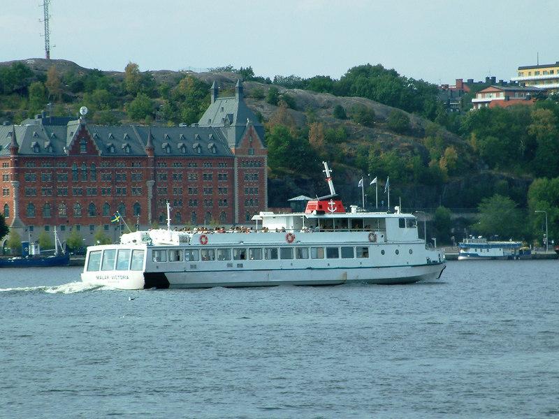 MV Malar Victoria leaving Stockholm for Birka, 28 07 2006