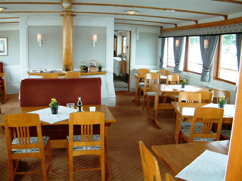 MV/SS Stockholm - upper deck aft tearoom