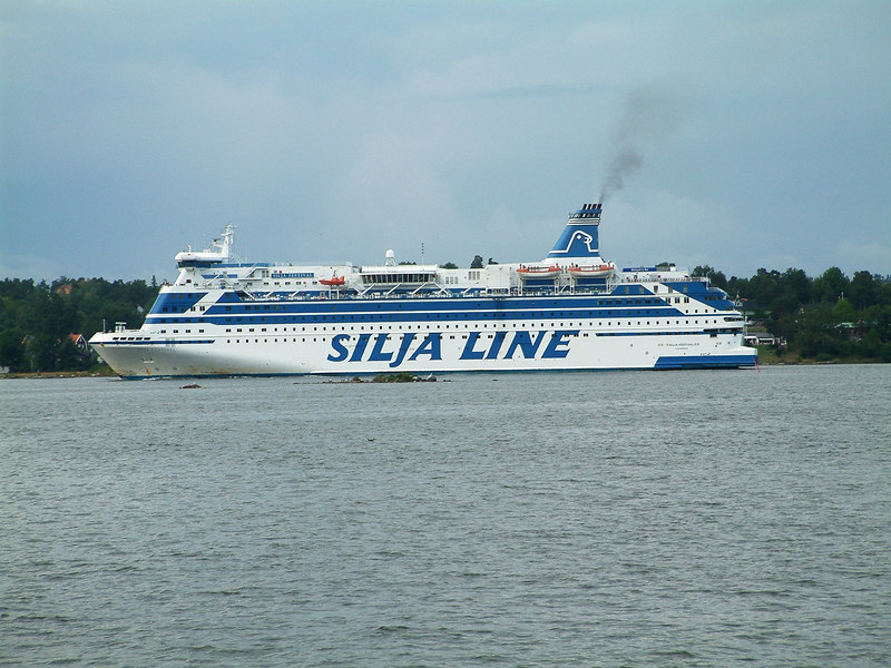 Silja Line ferry Silja Festival inbound to Stockholm from Abo, 29 07 2006