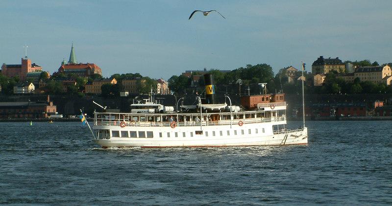 SS Norrskar leaving Strömkajen in Stockholm on an evening cruise 27 07 2006