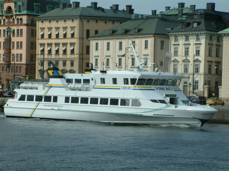 MV Vibero off Skeppsbron and Gamla Stan, Stockholm, 28 07 2006