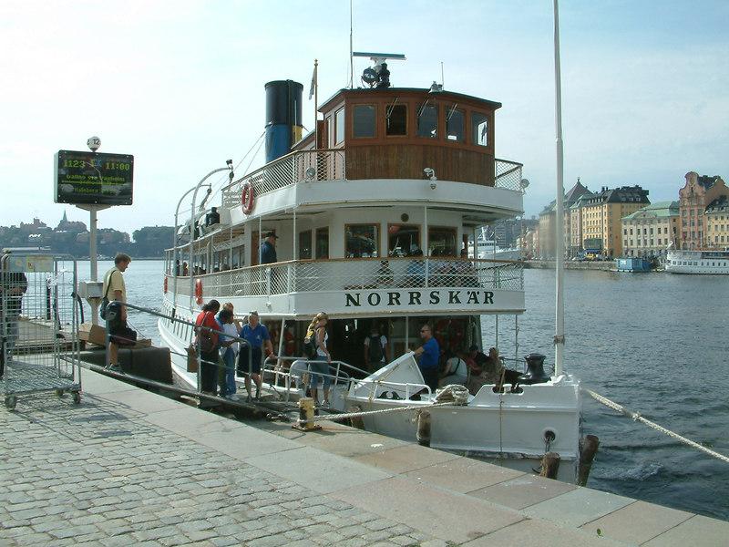 SS Norrskar at Strömkajen in Stockholm 28 07 2006