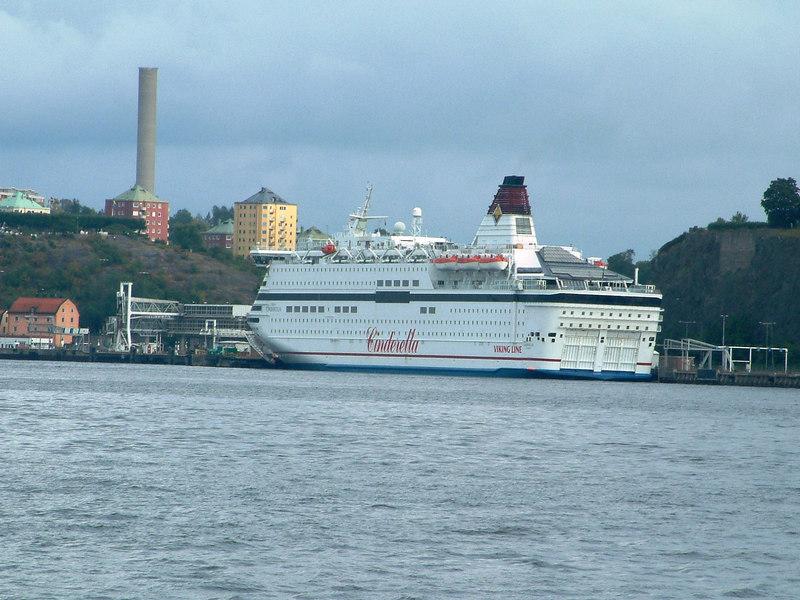Viking Line ferry Cinderella at Stadsgardshamnen, Stockholm, 29 07 2006