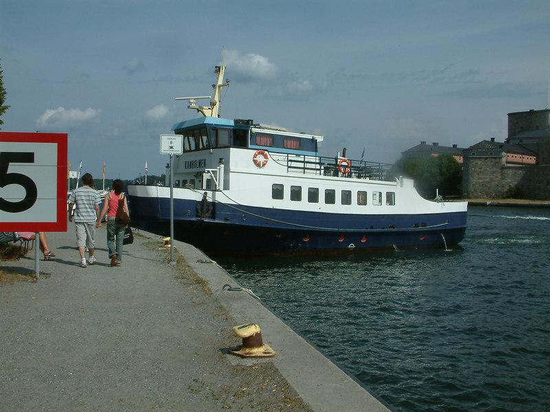 MV Kanholmen, Vaxholm Castle ferry at Vaxholm, 28 07 2006