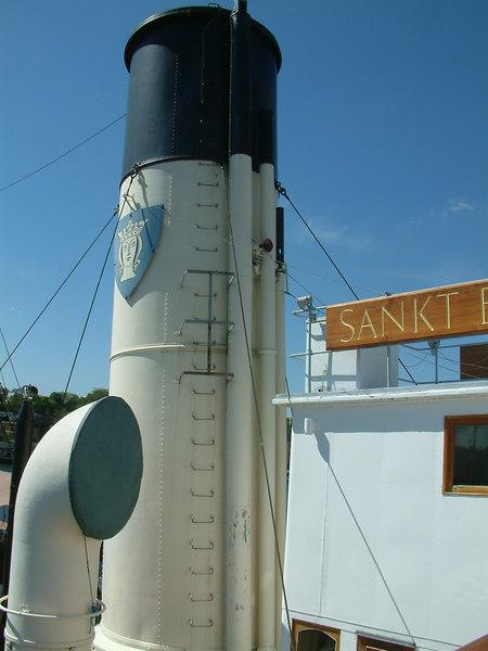 Icebreaker SS Sankt Erik, funnel from the bridge, 30 07 2006.
