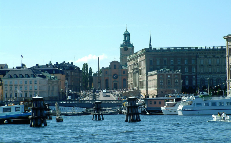 Royal Palace and Storkyrkan from Nybroviken, Stockholm, 30 07 2006