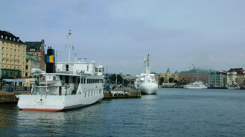 MV Waxholm I, Teaterskeppet, MV Soderam and SS Storskar at Stockholm, 28 07 2006