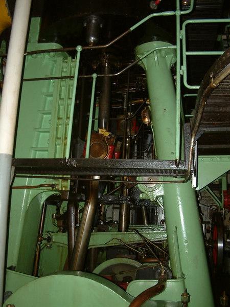 Icebreaker SS Sankt Erik, main (aft) reciprocating steam engine, 30 07 2006