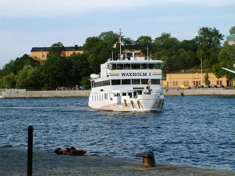 MV Waxholm I approaching her overnight berth at Skeppsbron, Stockholm, 27 07 2006