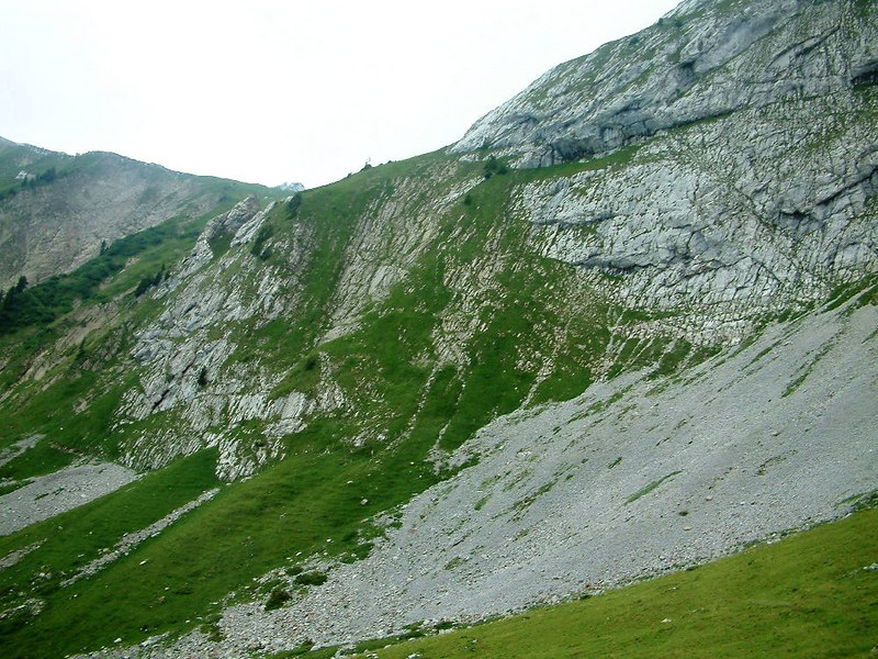 The mainly barren upper slopes of Pilatus