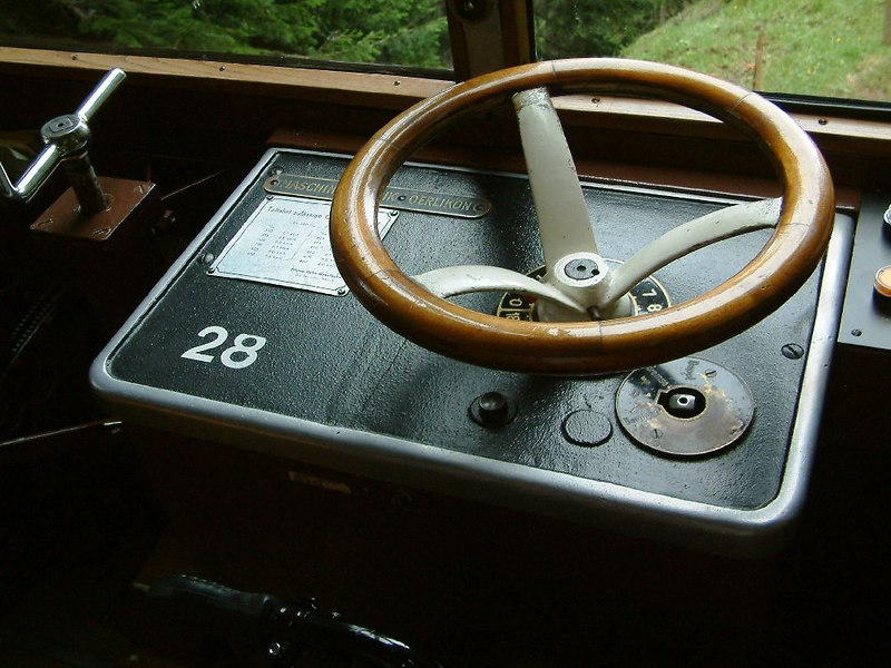 Pilatus train driver's control wheel