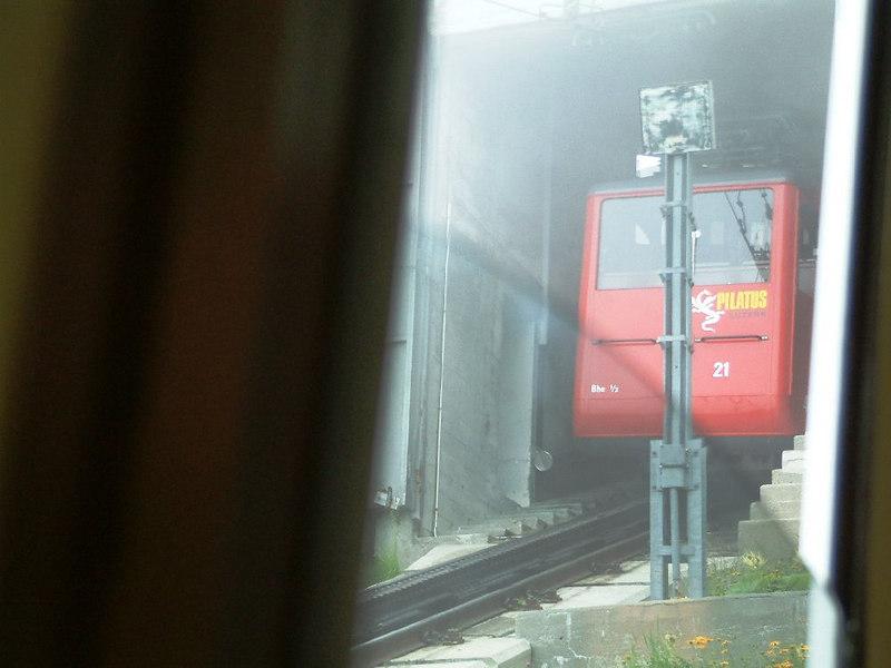 A train at Pilatus Kulm