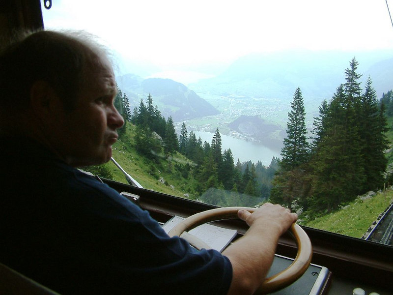 Driver view - descending Pilatus