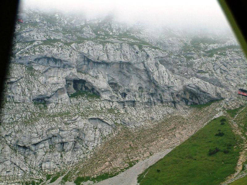 The mainly barren upper slopes of Pilatus