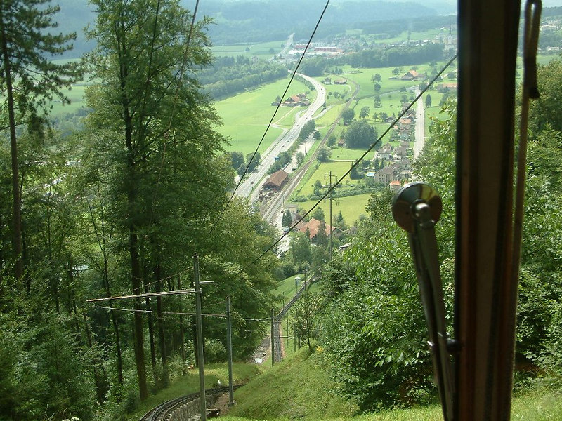 Ascending the Pilatusbahn