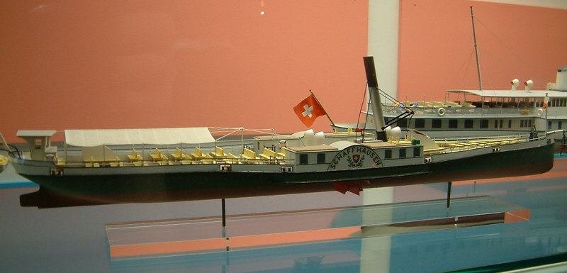 Model of the Rhine paddle steamer Schaffhausen