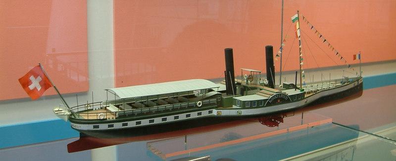 Model of Lake Leman paddle steamer Winkelreid (II) (1871 - 1918)