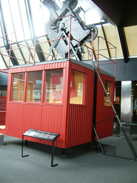 A car of the Wetterhorn Lift, Switzerland's first aerial railway - 1908.<br /> A replica now exists at the Hotel Wetterhorn in Grindelwald near to the original lower station of the Wetterhorn Lift/