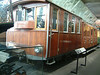 Electric rack locomotive He 2/2 No 1 designed by British engineer W R Rowan for the railway up towards the summit of the Jungfrau in the Bernese Oberland in 1898. The locomotive was lined with wood to provide protection against cold on the 'railway to the glacier'.