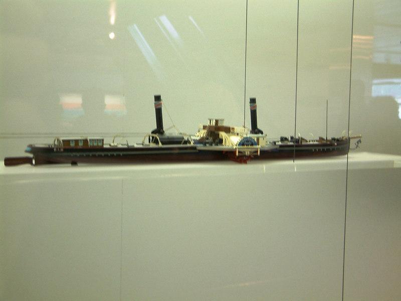 Model of a Rhine / Danube paddle tug