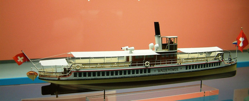 Model of the steamer Waldensweil