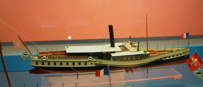 Model of Lake Leman paddle steamer Jura (1879-1905)
