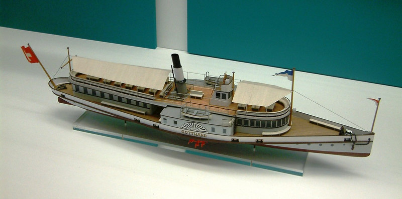 Model of the Lake Lucerne paddle steamer Gotthard (II) (1889 - 1965)